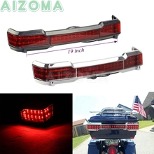 19 inch Motorcycle LED Brake Tail Light for Harley Touring Electra Glide FLHT 1997 2008 Chrome Tour Pack Running Tail Lamp