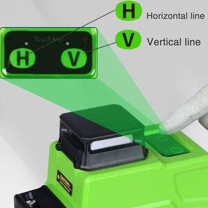 Image 2 - Nivel láser alemán de 520NM, batería de 5000MAH, 16 líneas, Línea Verde, 4D, autonivelante, 360, Horizontal y Vertical, superpotente, 2 uds.