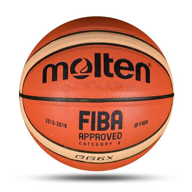 Mais novo profissional bola de basquete tamanho 6 material do plutônio com presente gratuito alta qualidade treinamento infantil esportes basquete baloncesto