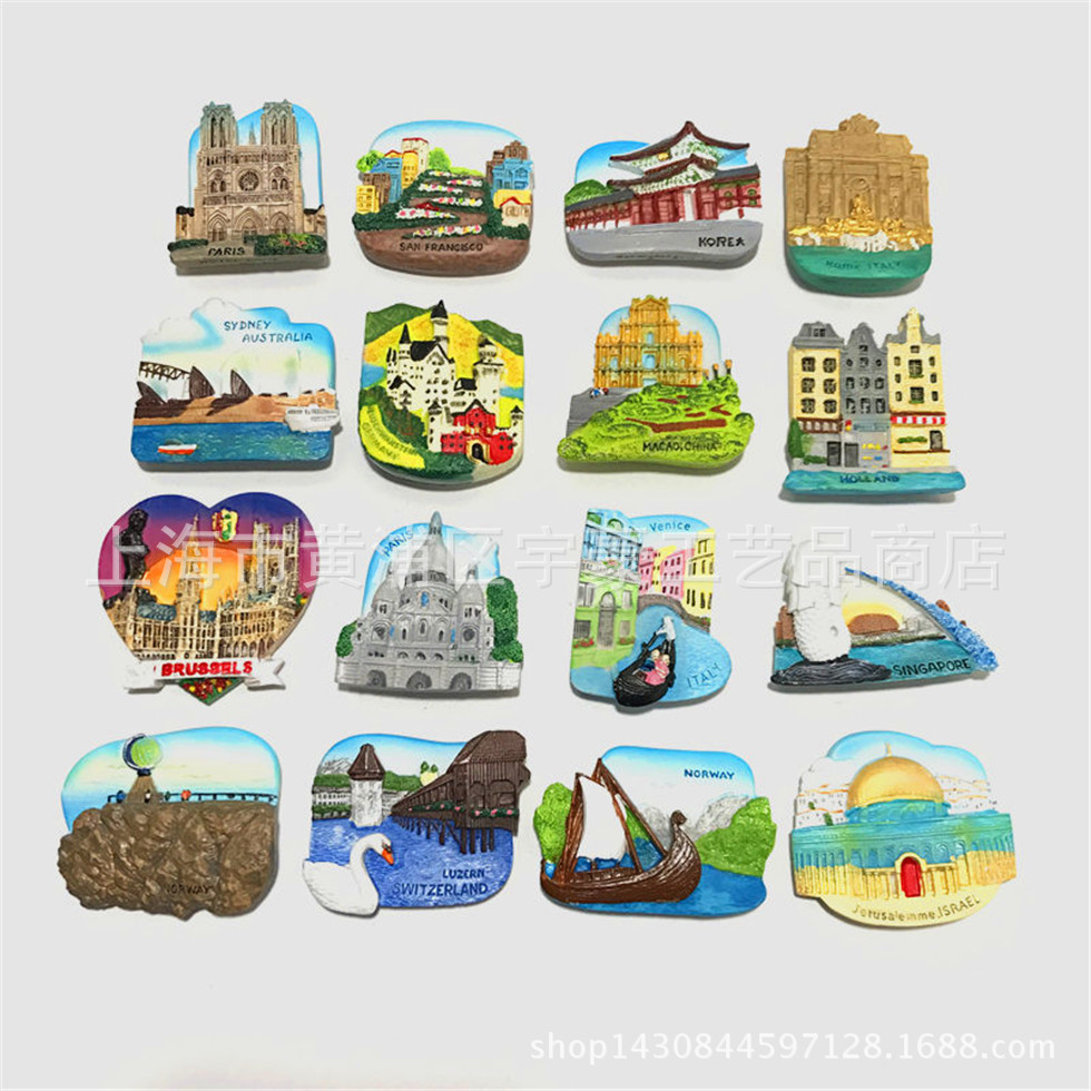 Australia Switzerland Norway San Francisco Paris Belgium Germany Korea Italy Macao Israel Singapore Netherlands New York Magnets image