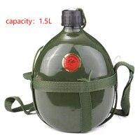 1.5L Sport kolarstwo na świeżym powietrzu rowerowa filiżanka przenośna aluminiowa butelka na wodę armia taktyczna stołówka wojskowa w Butelki sportowe od Sport i rozrywka na
