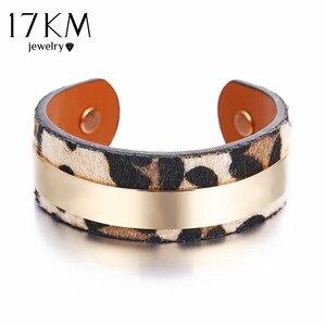 17KM Trendy Gold Velvet Leopar