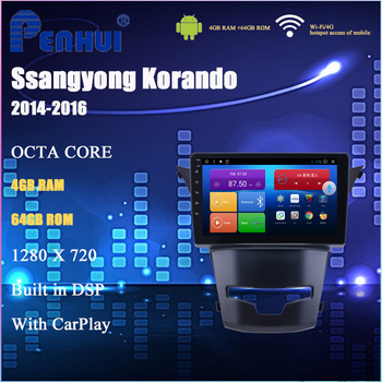 Android Car DVD for Ssangyong Korando (2014-2016) Car Radio Multimedia Video Player Navigation GPS Android 10.0 double din 5.0 image