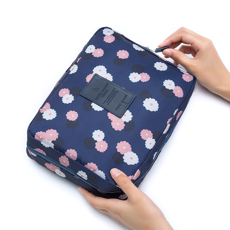 Zipper Man Women Makeup Nylon Cosmetic Bag Clear Makeup Case Toiletry Wash Functional Organizer Storage Pouch Beauty Kit HZ06-25