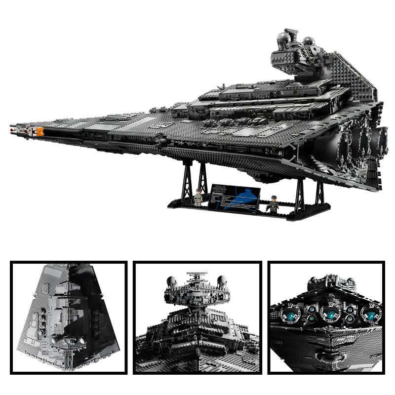 81098 5278 pezzi Set di poppa Wars die Groe clutch yer Star Destroyer fit 11447 75252 raumschiff Baustein spielt2g zotel fr jun