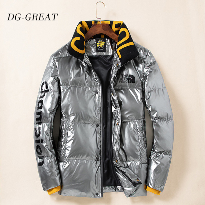 High Quality Men Winter White Black Duck Down Parka Thick Warm Hooded Outwear Polished Down Jacket Duck Down Thickened Men Coat