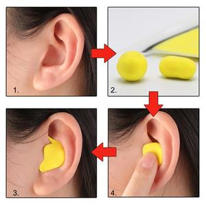 Image 4 - Moldable Shaped 60pcs/set PU Anti noise Ear Plugs Noise Reduction Sleeping Guard Soft Anti Snoring Health Care Sleep Aid Earplug