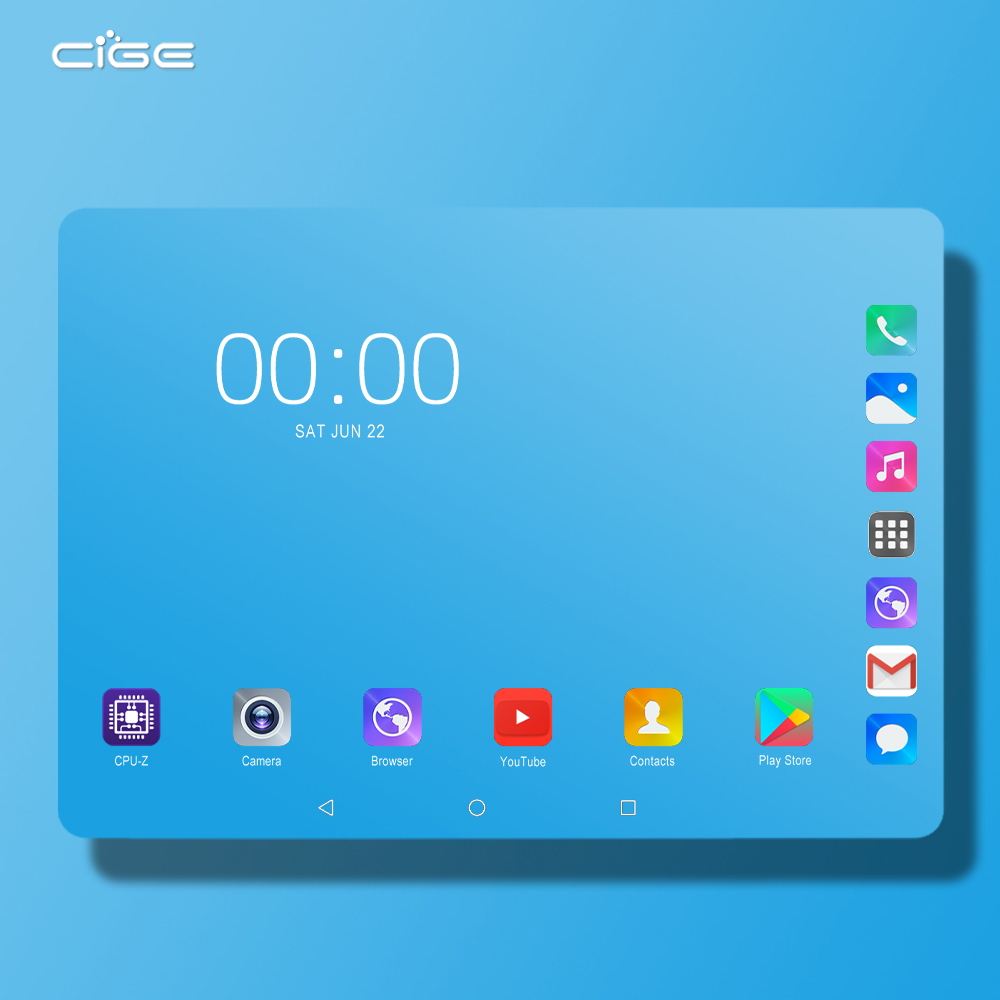 Super Tempered 2.5D Screen 10 Inch Tablet PC Android 9.0 Octa Core 6GB RAM 128GB ROM 8 Cores 1280x800 IPS Screen Tablets 10.1