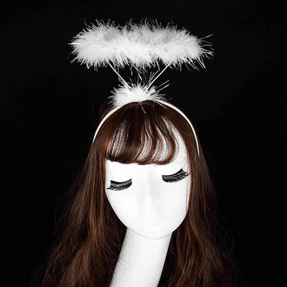 Enfants Adultes Ange Halo Headband FAIRY FEATHER Head Chaîne de Noël Fête Déguisement