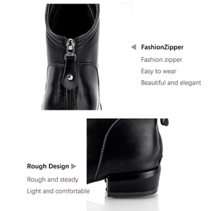 Image 5 - Women winter 2019 autumn new pointed sprain black artificial leather womens boots back zipper folds large size 43 ankle boots