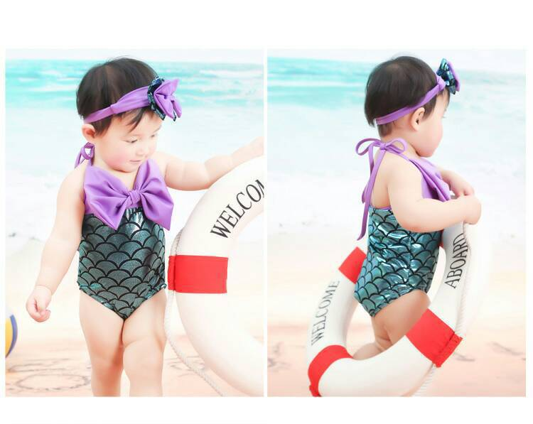Mermaid Tail Bathing Suit Girls South Korea CHILDREN'S Swimsuit GIRL'S Princess One-piece Infant Baby Bubble Hot Spring Swimwear