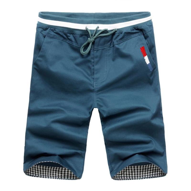 Men Casual Shorts New 2020 Summer Mens Elastic Waist Workout Shorts Knee Length Male Cotton Casual Sports Short Pants