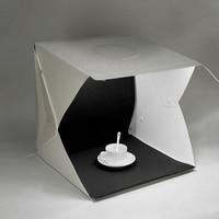 New 40cm Mini Photo Studio Tabletop Shooting LED Light Softbox Tent Lightbox Photography Studio Accessories Backdrops Lightbox