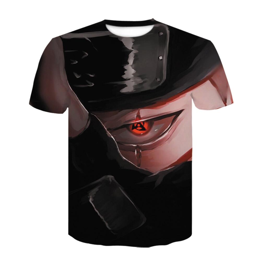 2020 verão nova moda masculina camisetas seis gerações naruto hatake kakashi 3d camiseta masculina manga curta impressão casual t camisa