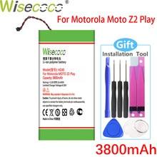 Wisecoco 3800mah hz40 bateria para motorola moto z2 jogar XT1710-08 xt1710 XT1710-06 XT1710-09 XT1710-11 telefone + número de rastreamento