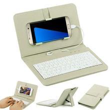 Kuulee Мобильная клавиатура обычная проводная клавиатура для телефона флип чехол-кобура для Andriod мобильный телефон 4,8 ''-6,0''
