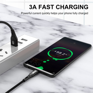 GTWIN USB Type C Cable Fast Charging Type-C Data Wire For Xiaomi Redmi Samsung Huawei Android Mobile Phone USB-C Charge Cord 3M