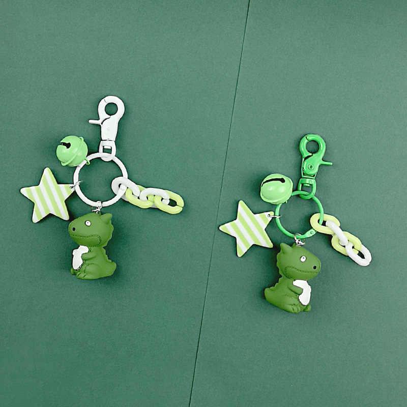 2019 Модный милый мультфильм маленький брелок для ключей динозавры цепочка для ключей из ПВХ для женщин сумка Шарм брелок Подвеска подарки ювелирные изделия