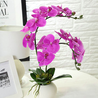 Free shipping flower potted plastic flower decoration living room decoration flower arrangement tea table TV cabinet display