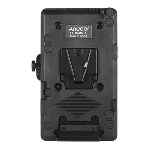 Image 5 - Andoer V Mount V Lock Battery Plate Power Supply Adapter System D tap Connector W/ Clamp for Sony Camera BP Battery