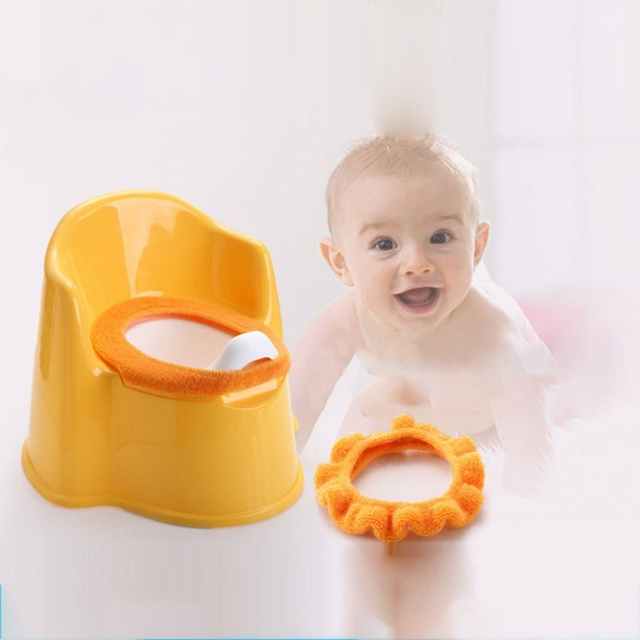 Baby Plush Cushion Children's Potty Mat Kids Toddler Training Toilet Seat Covers 2