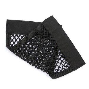 Image 4 - Car Back Rear Trunk Seat Storage Bag Auto Accessories Organizer Double deck Elastic String Net Magic Sticker Pocket Bag Mesh