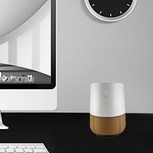 Image 2 - Gosear Moda PU Deri Yedek Hoparlör Yardımcısı Taban Standı Tutucu Google Ev Aksesuarları