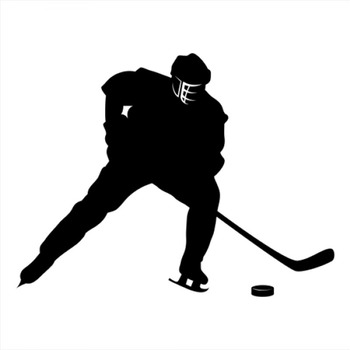 18x14cm Ice hockey Sportman Boy Stickers athlete Lover Car Stickers For Car Front Windshield Rainproof Decal CL324 image