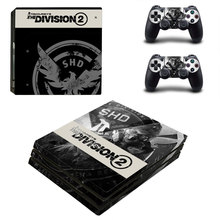 Tom Clancy's The Division 2 Style Skin Sticker for PS4 Pro Console And Controllers Decal Vinyl Skins Cover YSP4P-3296