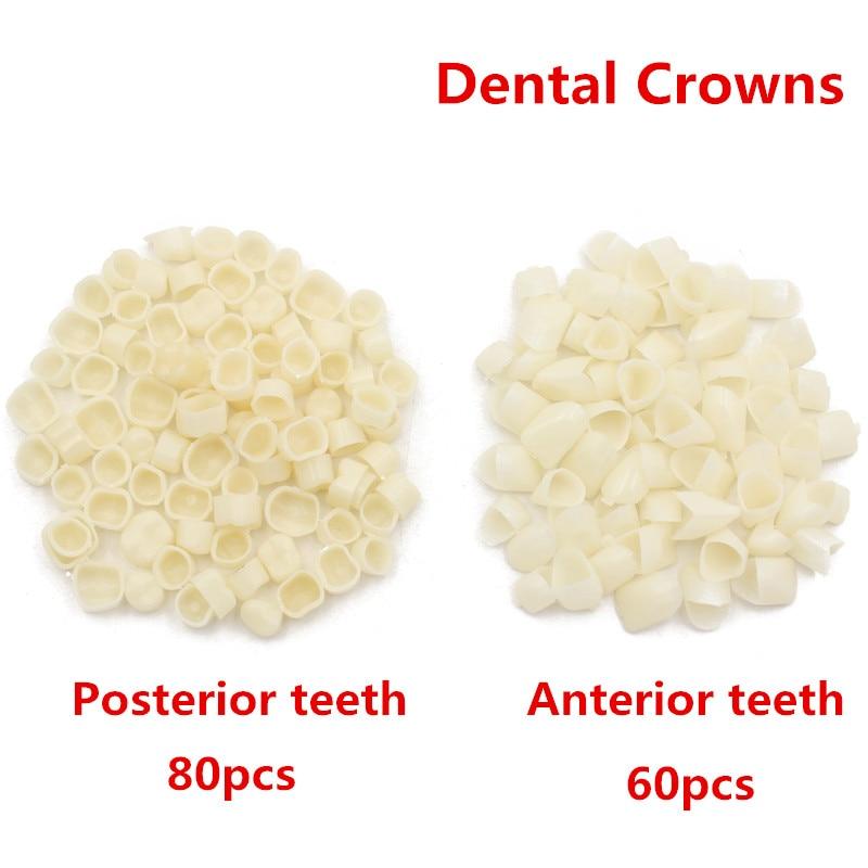 80Pc/pack Dental Crowns Oral Teeth Whitening Anterior Molar Crown Resin Porcelain Temporary Teeth Crown Dental Lab Dentist Tools