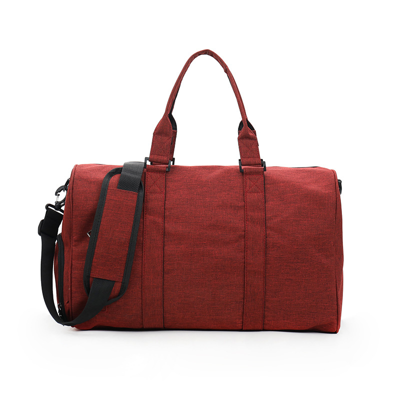 Ougger Traveling Bags for Ladies Big Large Capacity Men Shoulder Handbags Red Oxford Fashion England Yoga Fitness Outdoor Bags