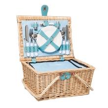 Rattan Picnic Basket Hand-held Picnic Receiving Basket Shopping Basket Thermal Insulation Food Basket Outdoor Picnic Box Thermal