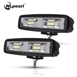 Nlpearl samochód lekki montaż led światła przeciwmgielne off road 4x4 48W Spot Beam listwa świetlna led dla ciężarówek Jeep ATV SUV DRL reflektory led w Zest. mont. świateł samochodowych od Samochody i motocykle na