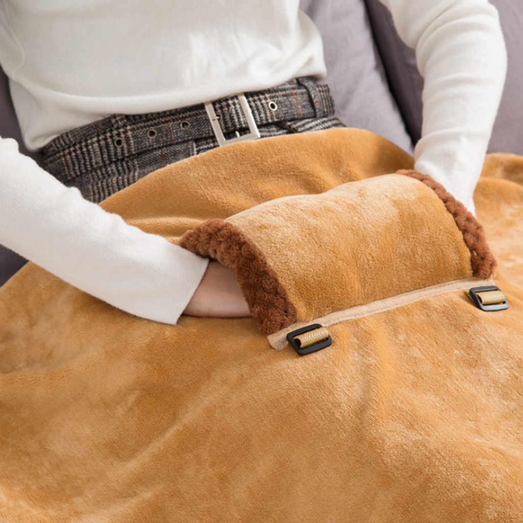 Melhor venda 2019 produtos flanela aquecimento quente pé warm up cobertor almoço break xale suporte cobertor elétrico dropshipping