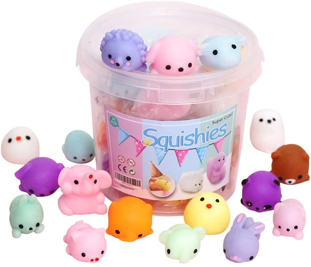 24pcs Party Favors for Kids Mochi Squishy Toy moji Kids Party Favors Mini Kawaii squishies