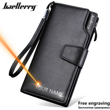 Baellerry Men Wallets Long Style High Quality Card Holder Male Purse Zipper Large Capacity Brand PU Leather Wallet For Men 1