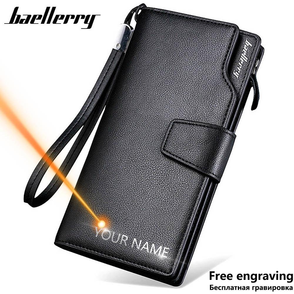 Baellerry Männer Brieftaschen Lange Stil Hohe Qualität Karte Halter Männlichen Geldbörse Zipper Große Kapazität Marke PU Leder Brieftasche Für Männer