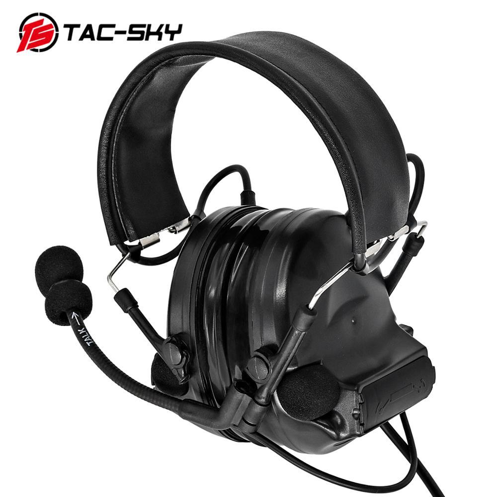 Купить с кэшбэком TAC-SKY COMTAC II Silicone Earmuffs Edition Hearing Defense Noise Reduction Pickup Military Tactical Headphones   BK