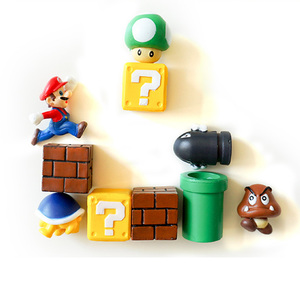 Image 4 - 39 stücke 3D Dekoration Stereoskopischen Super Mario Bros Kühlschrank Magneten Nachricht Aufkleber Erwachsene Mann Mädchen Junge Kinder Spielzeug Geburtstag Geschenk