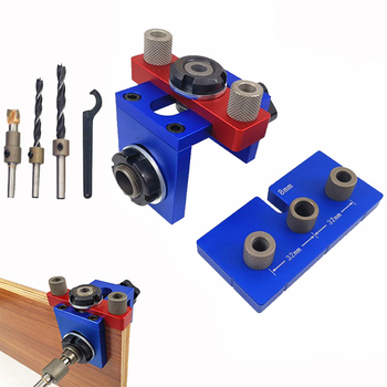 8mm/15mm Woodworking Drilling Locator Wood Dowel Hole Drilling Guide Jig Drill Bit kit Woodworking Carpentry Positioner Tool