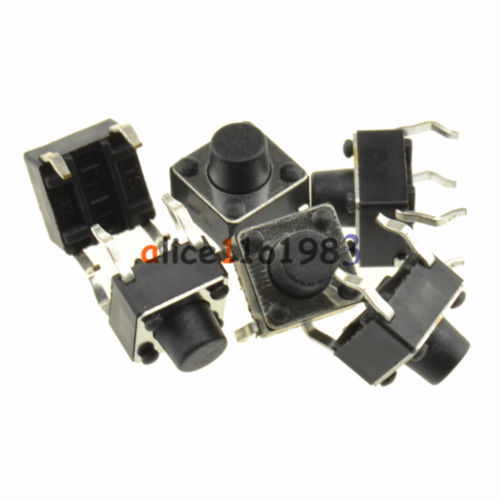50PCS 6x6x6 Mm Miniature Micro Momentary Tactile Tact Touch Push Button Switch Diy Electronics