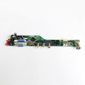 "Image 3 - Fit LM185WH1 2 CCFL Inverter LVDS 30 Pin PC desktop 1366*768 18.5 ""VGA + HDMI + Audio + USB + Fernbedienung LCD screen controller board DIY kit"
