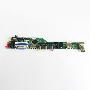"Image 3 - Pasuje do LM185WH1 2 CCFL falownik LVDS 30 Pin PC pulpit 1366*768 18.5 ""VGA + HDMI + Audio + USB + pilot zdalnego LCD kontroler ekranu pokładzie DIY zestaw"