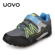 UOVO Breathable Casual Spring Autumn Kids Sport Shoes Running Hook And Loop Toddler Boy Sneakers #26-35