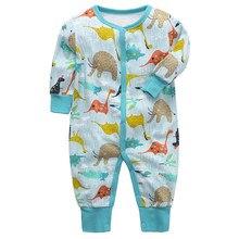 Newborn Baby Rompers Long Sleeves Boy girl Clothes 100%Cotton Comfortable Baby Pajamas Kawaii Animal print Kid Jumpsuit clothing(China)