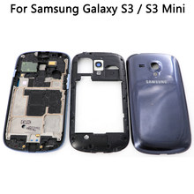 For Samsung Galaxy S3 i9300 i9305 S3Mini I8190 Front Middle Frame Board+Battery Cover Back Door Housing For S3 Mini Full Housing(China)