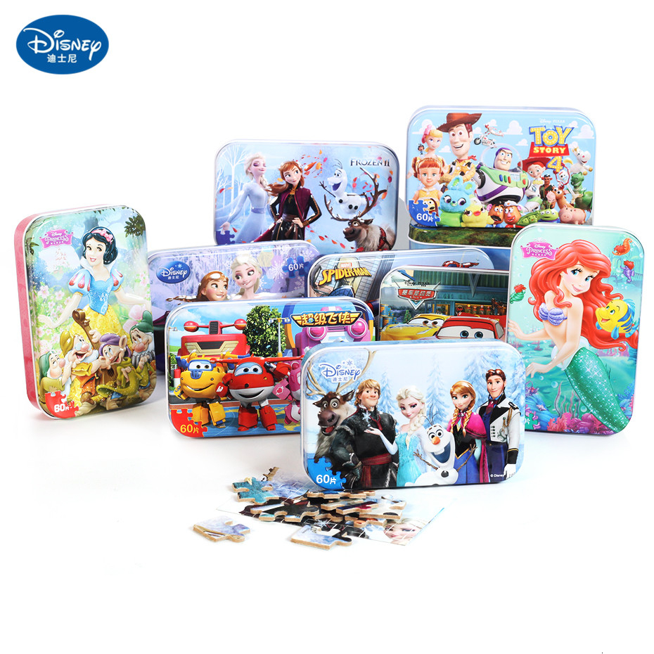 Disney 60 Pieces Of Small Pieces Puzzle Children's Wooden Toys Education Toys Wooden Toys Children's Gifts Disney Puzzle