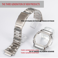 316L stainless steel watchband bezel/case DW5600 GW5000 GW M5610 metal strap steel belt tools for men/women gift