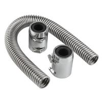 Auto Parts Cooling Water Pipe Engine Radiator General Silver Stainless Car Car Steel 0.88kg Hose