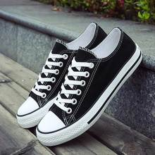 Casual shoes woman 2020 fashion breathable canvas sneakers women shoes lace up flat with solid flats women sneakers plus size
